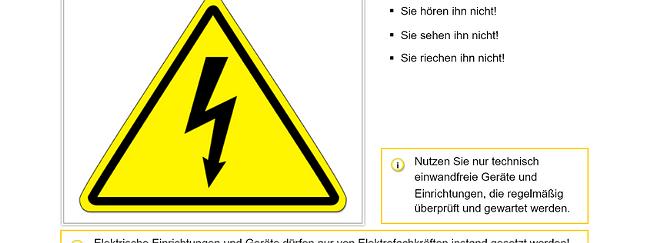 SZENARIS Elektrischer Strom